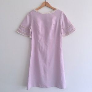 VTG 60s Lavender Purple Lace Floral Mini Dress
